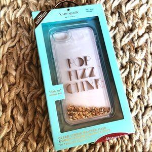 Kate Spade iPhone 7 Case Glitter Rose Gold NWT